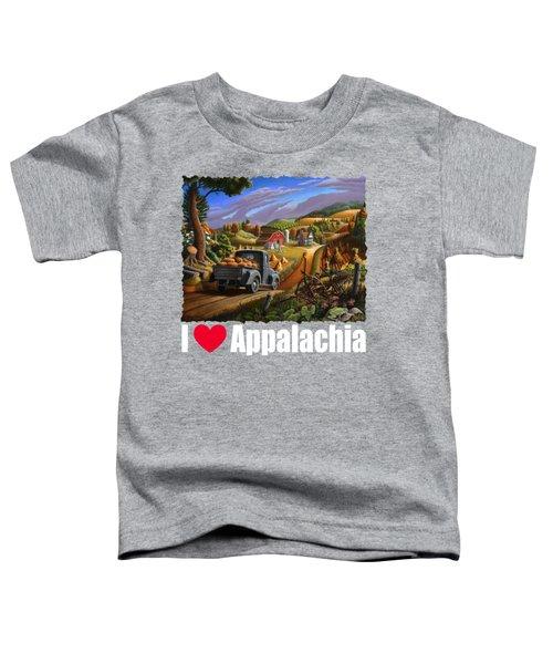 I Love Appalachia T Shirt - Taking Pumpkins To Market - Rural Appalachian Landscape 2 Toddler T-Shirt