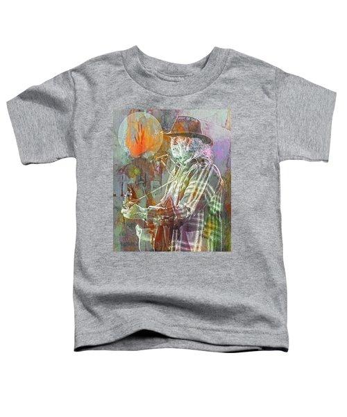 I Wanna Live, I Wanna Give Toddler T-Shirt by Mal Bray