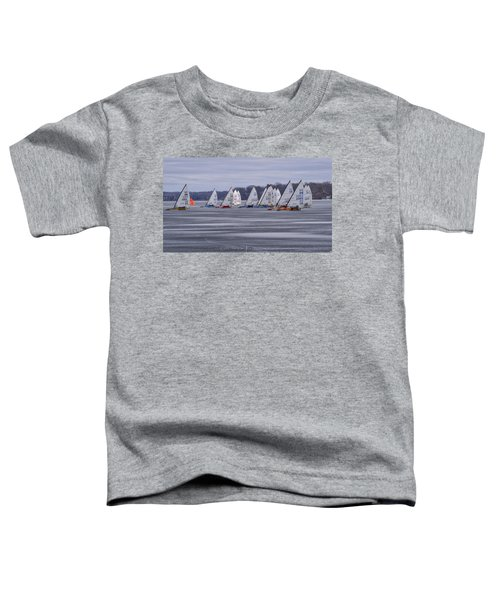 Ice Boat Racing - Madison - Wisconsin Toddler T-Shirt