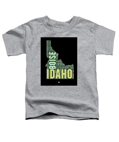 Idaho Word Cloud 1 Toddler T-Shirt
