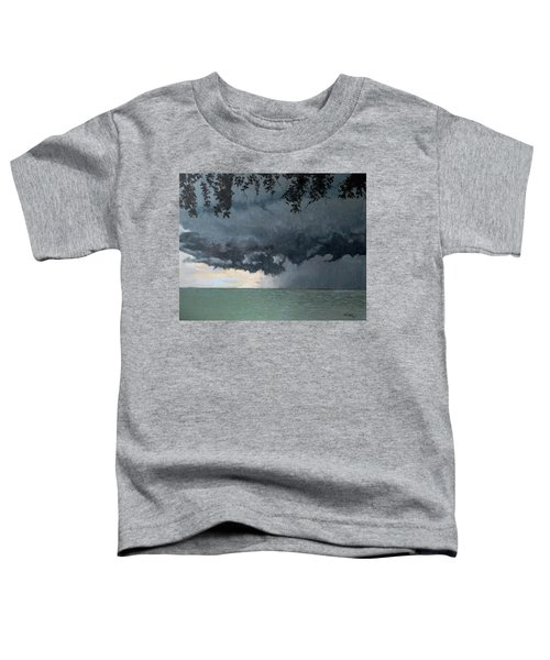 In Coming Storm-epping Forest On The Lake Toddler T-Shirt