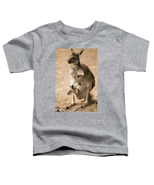 In  Mother's Care Toddler T-Shirt by Mike  Dawson