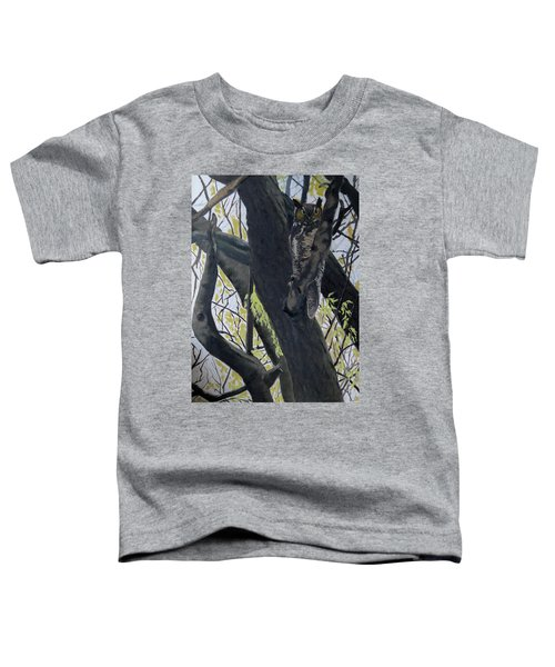 In The Shadow-ojibway Great Horn Owl Toddler T-Shirt