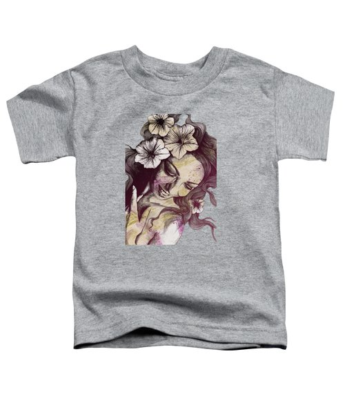 In The Year Of Our Lord - Wine - Smiling Lady With Petunias Toddler T-Shirt
