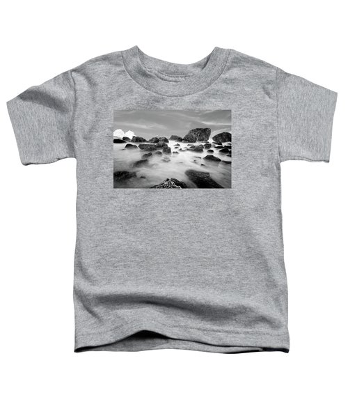 Indian Beach, Ecola State Park, Oregon, In Black And White Toddler T-Shirt