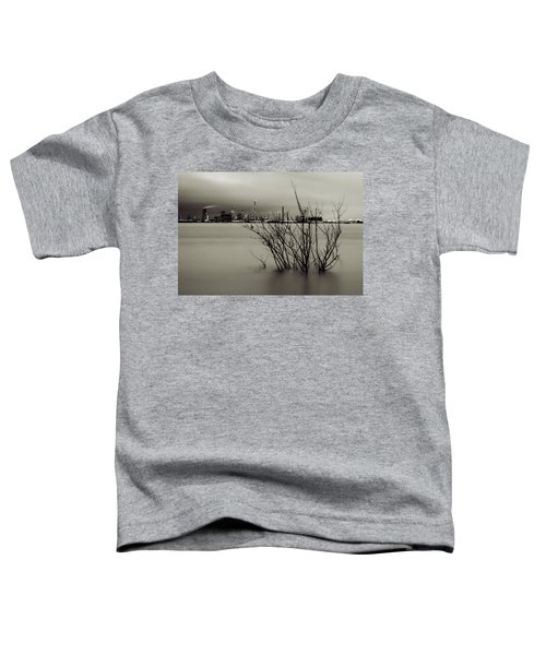 Industry On The Mississippi River, In Monochrome Toddler T-Shirt