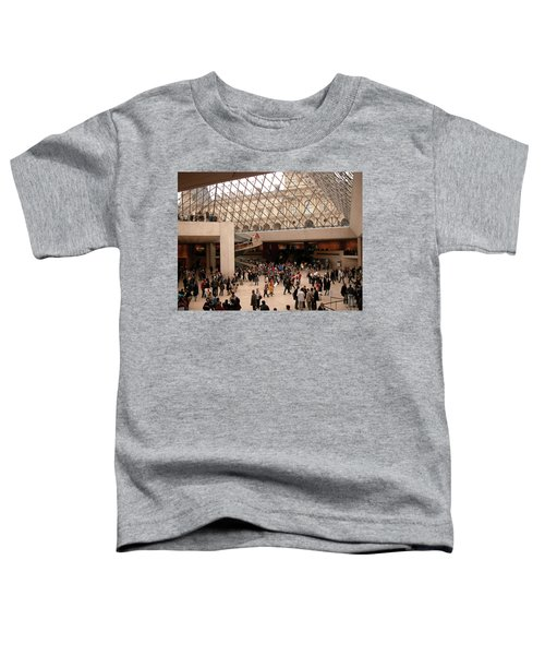 Toddler T-Shirt featuring the photograph Inside Louvre Museum Pyramid by Mark Czerniec
