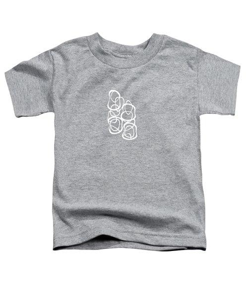 Interlocking - White On Soft Gray Owl - Pattern Toddler T-Shirt