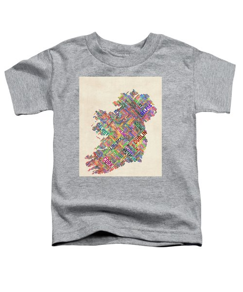 Ireland Eire City Text Map Derry Version Toddler T-Shirt