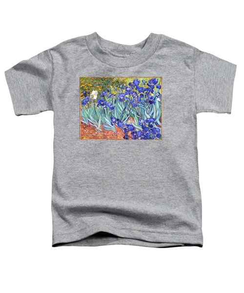 Toddler T-Shirt featuring the painting Irises by Van Gogh