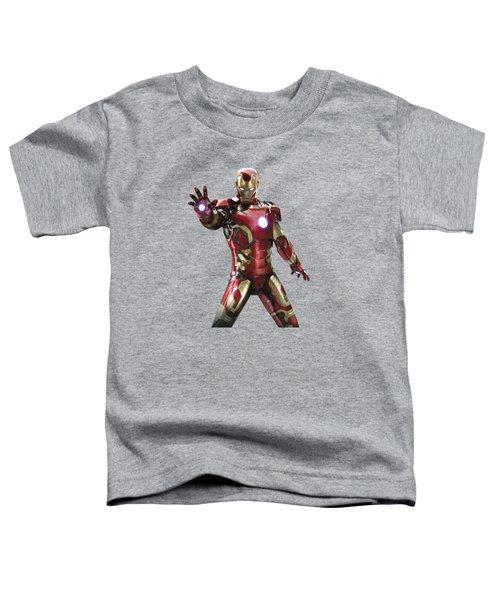 Iron Man Splash Super Hero Series Toddler T-Shirt