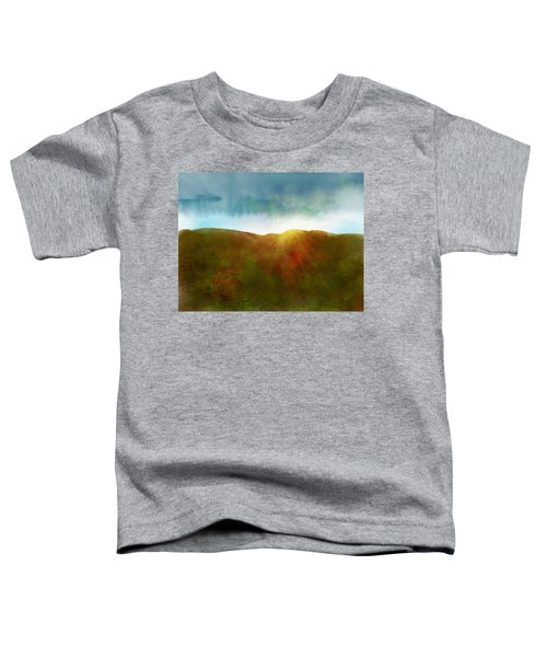 Toddler T-Shirt featuring the digital art It Began To Dawn by Antonio Romero