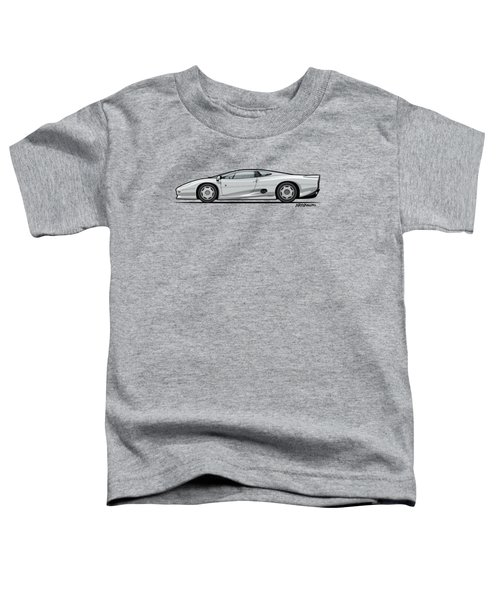 Jag Xj220 Spa Silver Toddler T-Shirt by Monkey Crisis On Mars