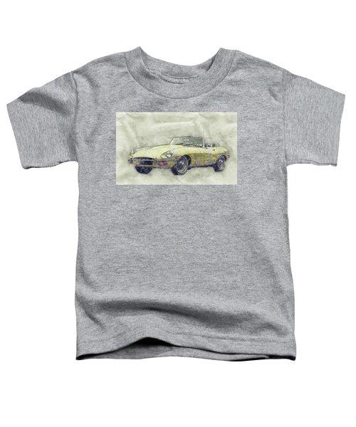 Jaguar E-type 1 - Jaguar Xk-e - Sports Car - Automotive Art - Car Posters Toddler T-Shirt