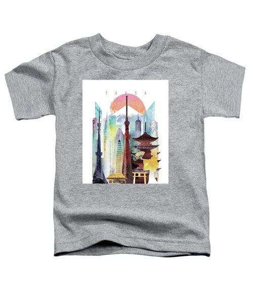 Japan Tokyo Toddler T-Shirt by Unique Drawing