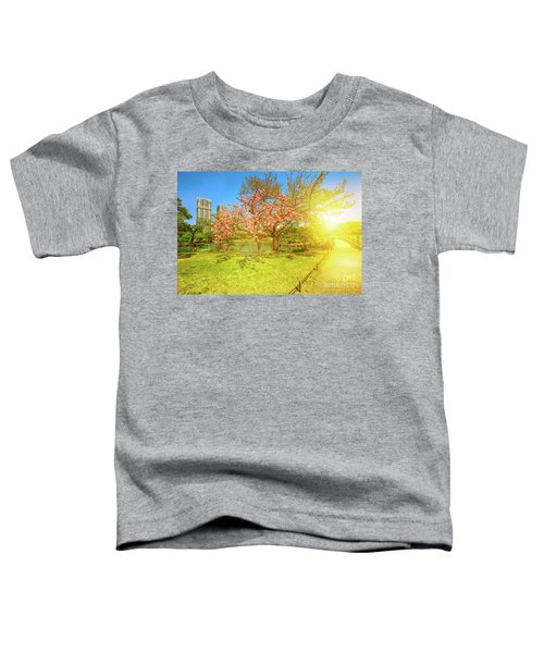 Japanese Garden Cherry Blossom Toddler T-Shirt