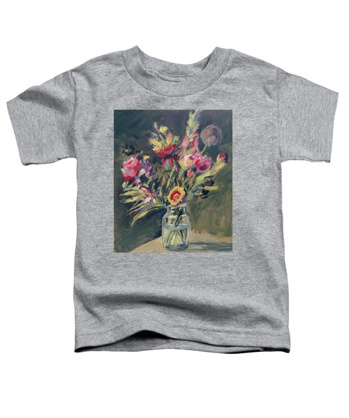 Jar Vase With Flowers Toddler T-Shirt