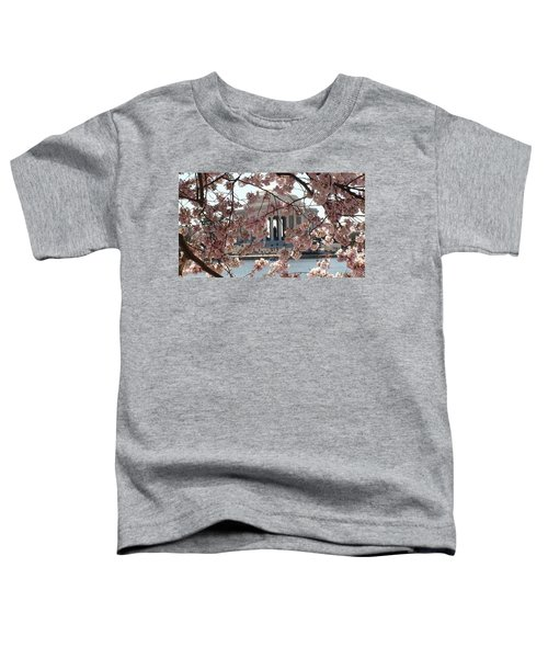 Jefferson Through The Cherry Blossoms Toddler T-Shirt