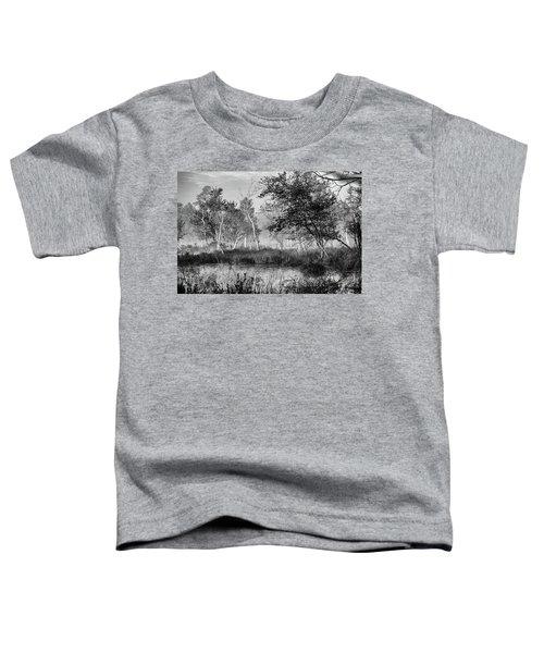 Jersey Pine Lands In Black - White Toddler T-Shirt