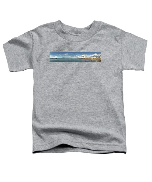 Toddler T-Shirt featuring the photograph Jetty To Shore by Stephen Mitchell