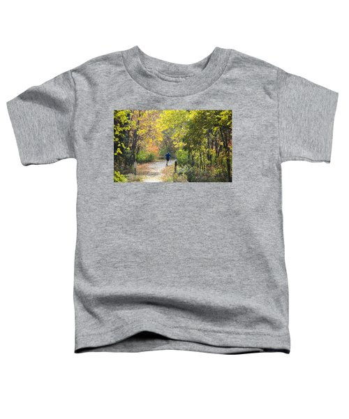 Jogger On Nature Trail In Autumn Toddler T-Shirt
