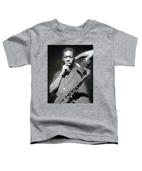 John Coltrane Toddler T-Shirt by Semih Yurdabak