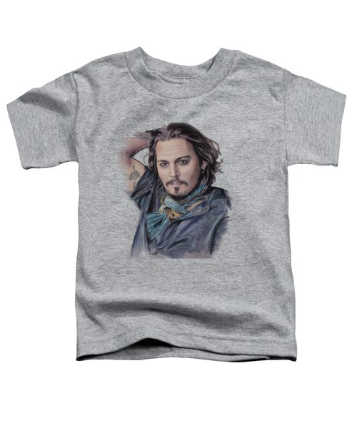 Johnny Depp Toddler T-Shirt by Melanie D