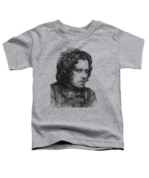 Jon Snow Game Of Thrones Toddler T-Shirt by Olga Shvartsur