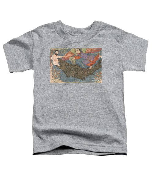 Jonah And The Whale Toddler T-Shirt by Iranian School