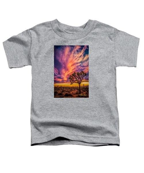 Joshua Tree In The Glowing Swirls Toddler T-Shirt