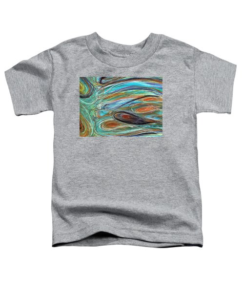 Jupiter Explored - An Abstract Interpretation Of The Giant Planet Toddler T-Shirt