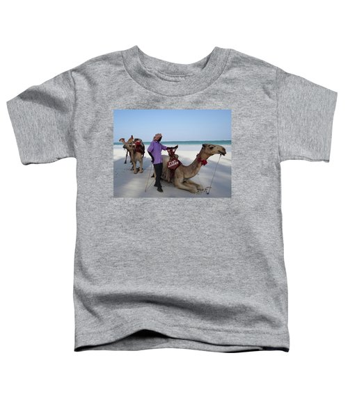 Just Married Camels Kenya Beach 2 Toddler T-Shirt