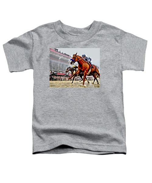 Justify Wins Preakness Toddler T-Shirt