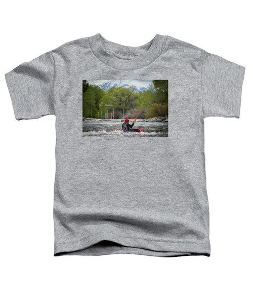 Kayaker On The Arkansas Toddler T-Shirt