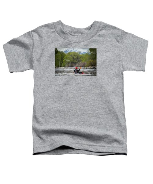 Kayaker On The Arkansas Toddler T-Shirt