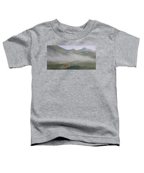 Kayaking Through The Fog Toddler T-Shirt