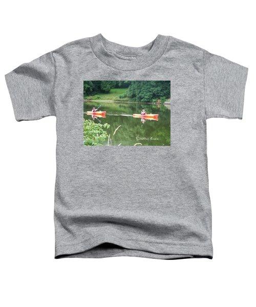 Kayaks On The River Toddler T-Shirt