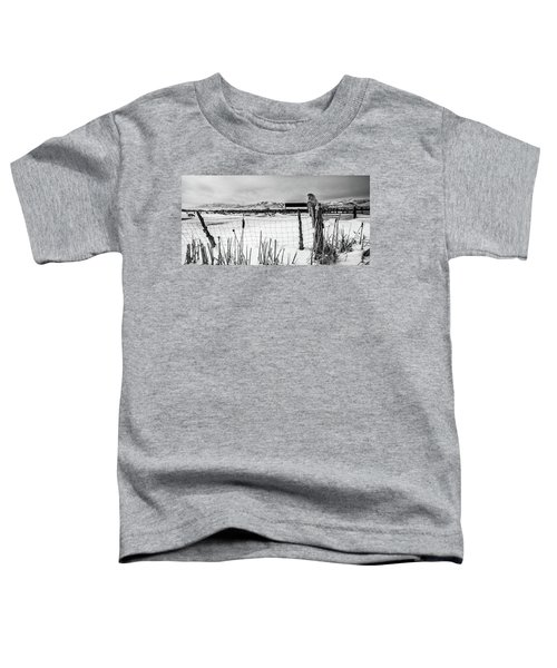 Keeping Watch Black And White Toddler T-Shirt
