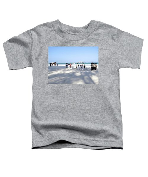 Kenya Wedding On Beach Wide Scene Toddler T-Shirt