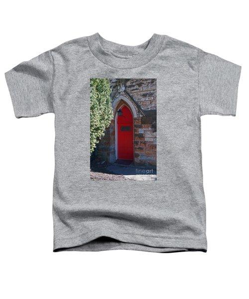 Red Church Door Toddler T-Shirt