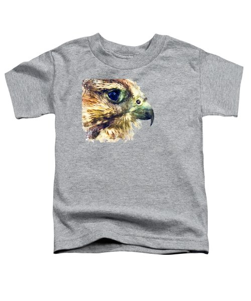Kestrel Watercolor Painting Toddler T-Shirt by Justyna JBJart