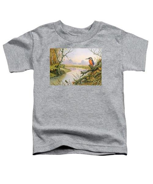 Kingfisher  Autumn River Scene Toddler T-Shirt