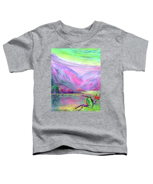 Kingfisher, Shimmering Streams Toddler T-Shirt by Jane Small