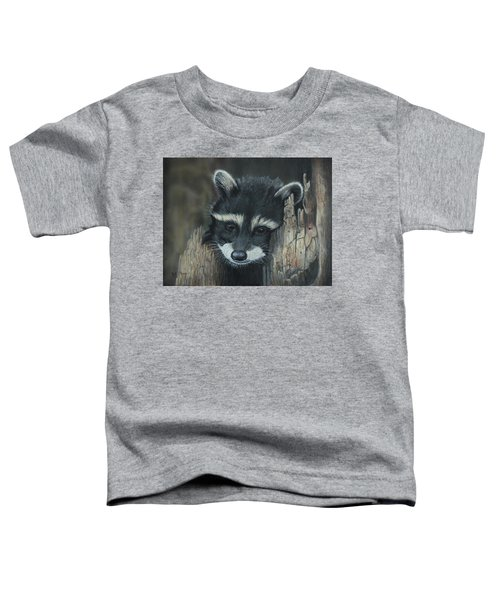 Kit...the Baby Raccoon Toddler T-Shirt