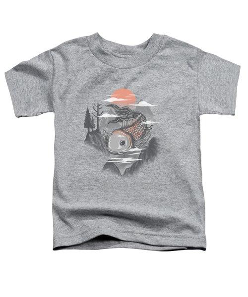 koi Toddler T-Shirt by Anggrahito Pramono