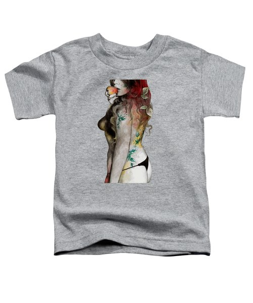 Koi No Yokan - Erotic Drawing, Sexy Tattoo Girl In Thong Biting An Apple Toddler T-Shirt