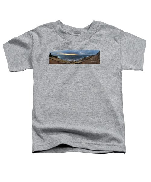 La Jolla Shores Beach Panorama Toddler T-Shirt