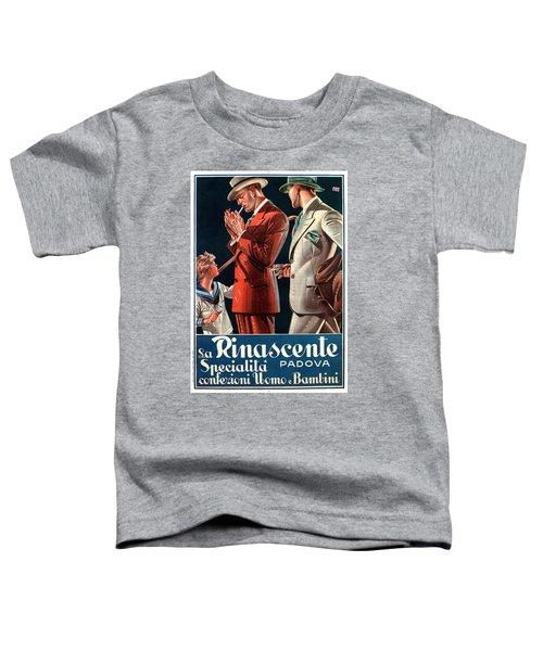 La Rinascente - Clothing For Men - Italian Fashion - Padova, Italy - Vintage Advertising Poster Toddler T-Shirt
