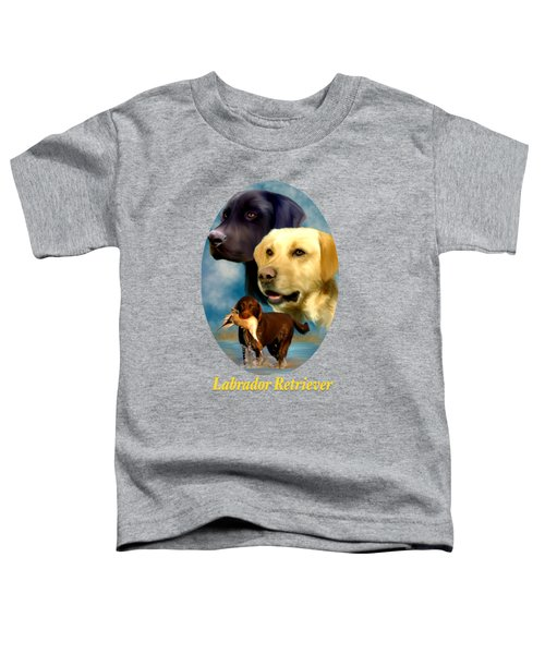 Labrador Retriever With Name Logo Toddler T-Shirt