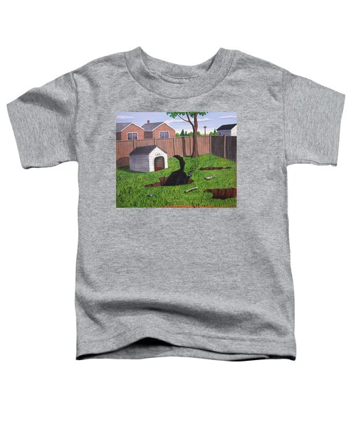 Lady Digs In The Backyard Toddler T-Shirt